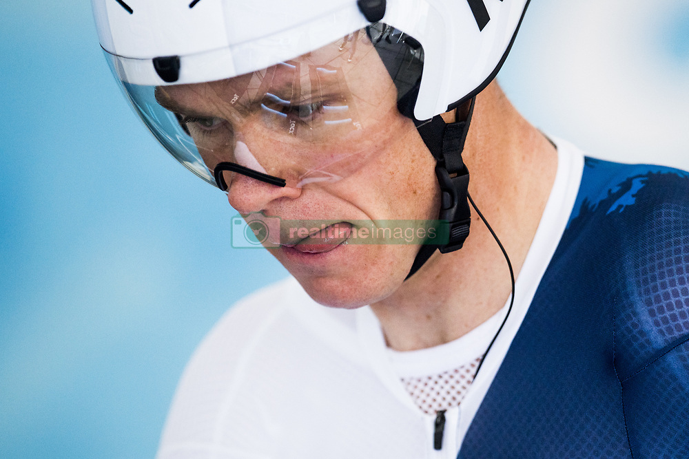 September 20, 2017 - Bergen, NORWAY - 170920 Christopher Froome of Great Britain in the warm up area ahead of the Men Elite Individual Time Trial on September 20, 2017 in Bergen..Photo: Jon Olav Nesvold / BILDBYRN / kod JE / 160023 (Credit Image: © Jon Olav Nesvold/Bildbyran via ZUMA Wire)