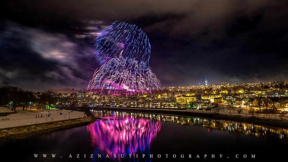 The firework of Trondheim