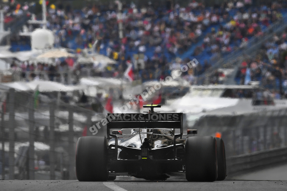 Kevin Magnussen (Haas-Ferrari) seen from behind during practice before the 2019 Monaco Grand Prix. Photo: Grand Prix Photo