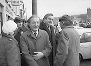 Image of Fianna Fáil leader Charles Haughey touring West Cork during his 1982 election campaign...04/02/1982.02/04/82.4th February 1982..On the move: ..Charles Haughey looks ahead to a new phase in his political career...