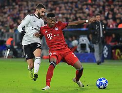27.11.2018, Champions League  Saison 2018/ 2019, . Bayern vs Benfica Lissabon, Allianz Arena, Muenchen, Sport, im Bild:..Rafa Silva ( Benfica) vs David Alaba (FCB)..DFL REGULATIONS PROHIBIT ANY USE OF PHOTOGRAPHS AS IMAGE SEQUENCES AND / OR QUASI VIDEO...Copyright: Philippe Ruiz..Tel: 089 745 82 22.Handy: 0177 29 39 408.e-Mail: philippe_ruiz@gmx.de. (Credit Image: © Philippe Ruiz/Xinhua via ZUMA Wire)