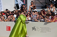 Venice, Italy, 31st August 2019, Mariana Di Girolamo with fans at the gala screening of the film Ema at the 76th Venice Film Festival, Sala Grande. Credit: Doreen Kennedy/Alamy Live News