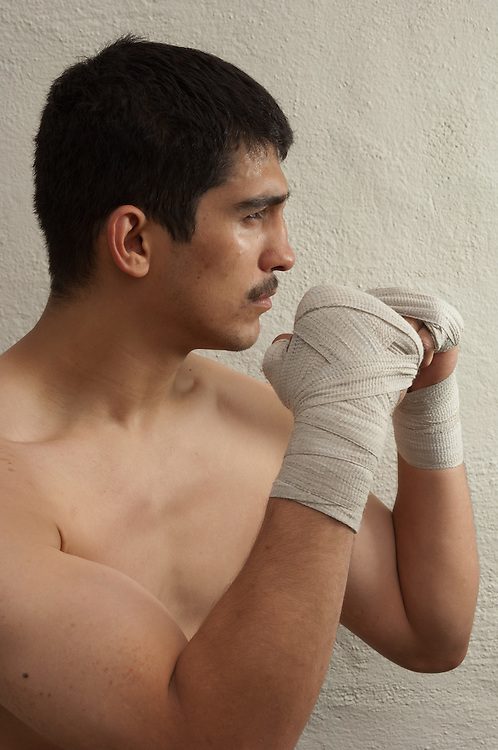 23 April 2011: John Millan poses for a portrait at the La Habra Boxing Club in La Habra, CA