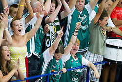 Supporters of Slovenia during basketball match between National teams of Turkey and Slovenia in Qualifying Round of U20 Men European Championship Slovenia 2012, on July 17, 2012 in Domzale, Slovenia. Slovenia defeated Turkey 72-71 in last second of the game. (Photo by Vid Ponikvar / Sportida.com)