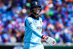 Joe Root of England  cuts a frustrated figure - Mandatory by-line: Robbie Stephenson/JMP - 30/06/2019 - CRICKET - Edgbaston - Birmingham, England - England v India - ICC Cricket World Cup 2019 - Group Stage