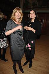 Left to right, RACHEL JOHNSON and KIMBERLEY FORTIER at a party to celebrate the publication of 'Seven Secrets of Successful Parenting' by Karen Doherty and Georgia Coleridge, held at Chelsea Town Hall, King's Road, London on 28th April 2008.<br /><br />NON EXCLUSIVE - WORLD RIGHTS
