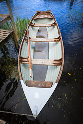 Boat at Ashford Castle, built in 1228 and now a luxury resort, Cong, County Mayo, Ireland