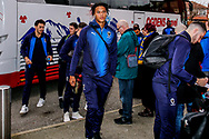 Wimbledon defender Toby Sibbick (20) arrives during the The FA Cup 3rd round match between Fleetwood Town and AFC Wimbledon at the Highbury Stadium, Fleetwood, England on 5 January 2019.