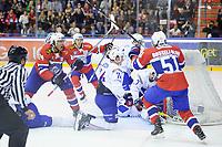 Ishockey , OL-kvalifisering<br /> 04.09.16 , 20160904<br /> Norge - Frankrike<br /> Norge jubler for Mattias Nørstebø avgjørende mål til 2-1<br /> Foto: Sjur Stølen / Digitalsport