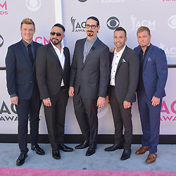 April 2, 2017 - Las Vegas, Nevada, United States of America - Music group Backstreet Boys attend the 52nd Academy of Country Music Awards on April 2, 2017 at T-Mobile  Arena in Las Vegas, Nevada (Credit Image: © Marcel Thomas via ZUMA Wire)