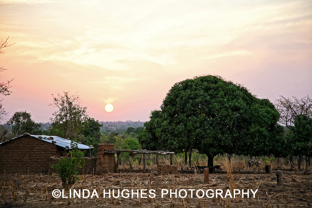 Remote village area in the Upper West Region of Ghana West Africa