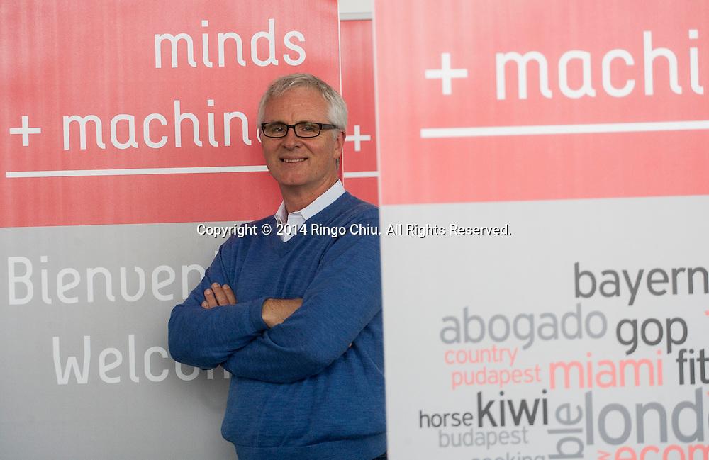 Antony Van Couvering, chief executive at Minds + Machines in Santa Monica.(Photo by Ringo Chiu/PHOTOFORMULA.com)