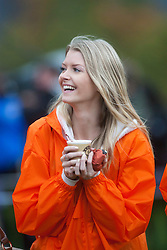 Cold contestants..The Miss World 2011 contestants take part in Highland Games in the grounds of Crieff Hydro, Perthshire..MISS WORLD 2011 VISITS SCOTLAND..Pic © Michael Schofield.