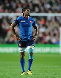 Wesley Fofana of France  - Mandatory byline: Joe Meredith/JMP - 07966386802 - 01/10/2015 - Rugby Union, World Cup - Stadium:MK -Milton Keynes,England - France v Canada - Rugby World Cup 2015
