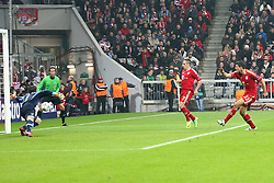 02.11.2011, Allianz Arena, Muenchen, GER, UEFA CL, FC Bayern Muenchen vs. SSC Neapel, im Bild  Tor zum 2-0 durch Mario Gomez (Bayern #33) // during the CL match  FC Bayern Muenchen (GER)  vs.  SSC Neapel  (ITA) Gruppe A, on 2011/11/02, Allianz Arena, Munich, Germany, EXPA Pictures © 2011, PhotoCredit: EXPA/ nph/  Straubmeier       ****** out of GER / CRO  / BEL ******
