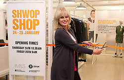 © Licensed to London News Pictures. 24/01/2013. London, United Kingdom.  Joanna Lumley opens the Marks & Spencer and Oxfam two day pop-up charity shop, filled with items donated by celebrities, including Alexa Chung, Daisy Lowe, Pixie Lott, Plan B, Jo Wood, Zandra Rhodes, Caroline Flack, Tali Lennox, Erin O'Connor, Joanne Froggatt, Ellie Goulding, Gemma Cairney and Susie Lau. The shop also features a unique collection of vintage M&S items from its first-ever St Michael collection in 1928 to present day. The shop is staffed by celebrities, including Joanna Lumley, Grace Woodward and Brix Smith-Start, and items can be purchased by swapping customers' own unwanted clothes.. Photo credit : Justin Setterfield/LNP