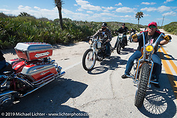 Ray Ray Llanes, Nate Jacobs and friends out riding during Daytona Bike Week. FL, USA. March 14, 2014.  Photography ©2014 Michael Lichter.