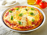 3 cheese margarita pizzas with basil photos. Funky Stock pizzas photos