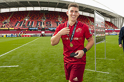September 30, 2017 - Limerick, Ireland - Man of the match Ian Keatley of Munster pictured during the Guinness PRO14 Conference A Round 5 match between Munster Rugby and Cardiff Blues at Thomond Park in Limerick, Ireland on September 30, 2017  (Credit Image: © Andrew Surma/NurPhoto via ZUMA Press)