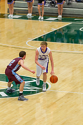 30 December 2015:  St. Joseph Ogden Spartans and the El Paso Gridley Titans.  Officials for the game - Mark Jontry,Kirk Sieg, Tom Daugherty.  State Farm Holiday Classic Coed Basketball Tournament at Illinois Wesleyan Shirk Center, Bloomington Illinois- Day 3 Small School Boys
