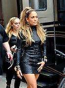 Sept. 8, 2014 - New York City, NY, United States - A<br /> <br /> Jennifer Lopez prepares to shoot a music video in downtown Manhattan wearing a very sexy black dress<br /> ©Exclusivepix