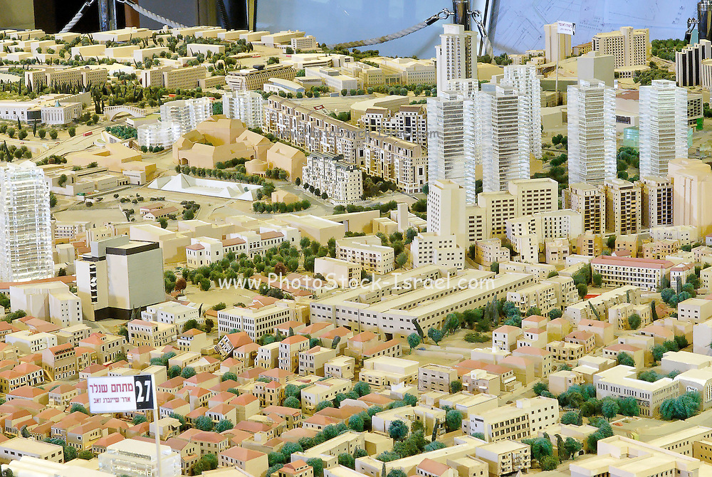 Israel, Jerusalem, A scaled model of the city, used by the Urban Planning Department to assess the visual impact of new building projects