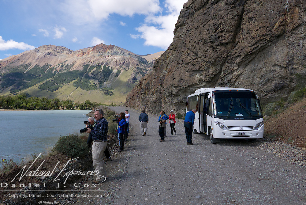 A photo stop on the road to lake known as Laguna del Desierto out of El Chalten, Patagonia, Argentina