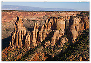 Weird Rock formations at Colorado National Monument, Western Colorado, USA