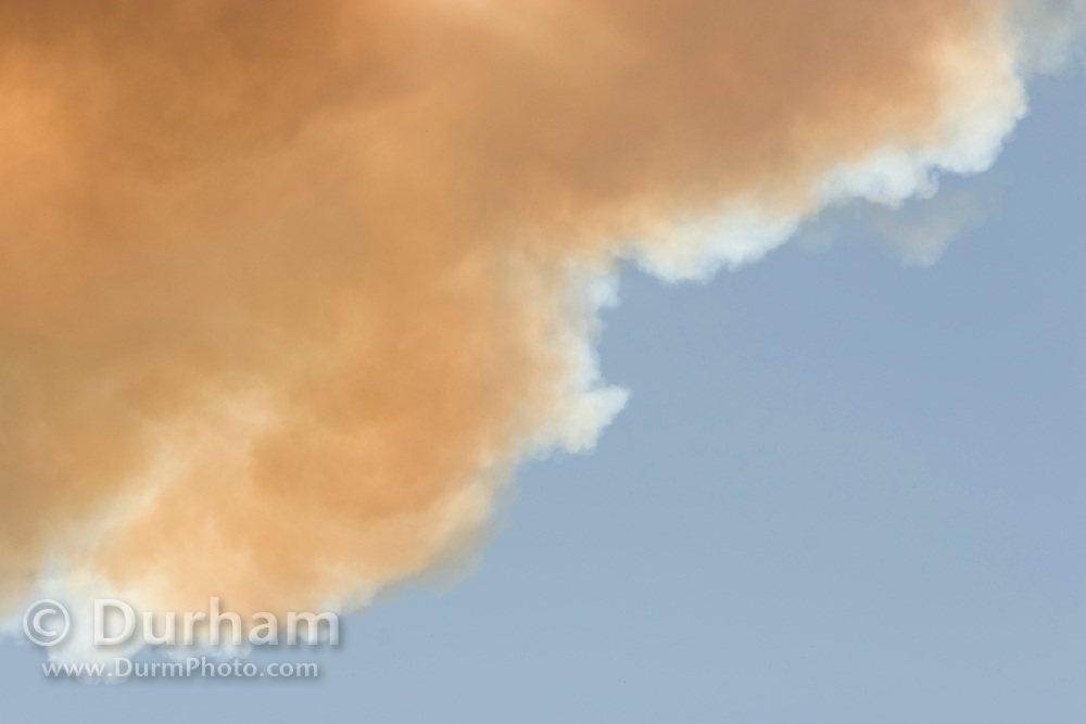 smoke from a forest fire. Deschutes National Forest, Oregon.