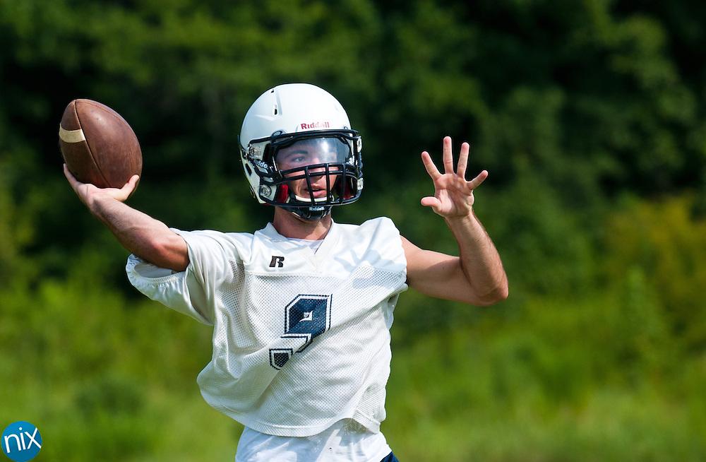 Hickory Ridge quarterback Nick Tyson during football practice Monday, July 30 at Hickory Ridge High School in Harrisburg. (photo by James Nix)