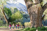 Taos Land Trust frequently hosts children at the main office which is located on a gorgeous piece of protected land right in the heart of Taos, New Mexico.