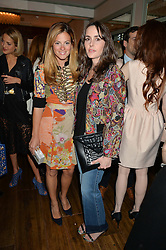 Left to right, SERENA HOOD and TANIA FARES at a dinner hosted by Kate Spade NY to celebrate Chelsea in Bloom held at Daphne's, 112 Draycott Avenue, London on 20th May 2015.