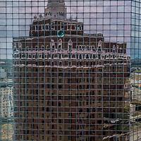 The warped window. Atlantic City, NJ, USA.