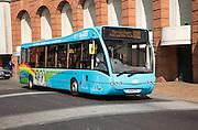 Single decker bus in central Ipswich, Suffolk, England, UK