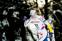 February 2, 2018 - Goms, SWITZERLAND - 180202 Moa Olsson of Sweden competes in the women's 7,5/7,5 km skiathlon during the FIS U23 Cross-Country World Ski Championships on February 2, 2018 in Obergoms..Photo: Vegard Wivestad GrÂ¿tt / BILDBYRN / kod VG / 170095 (Credit Image: © Vegard Wivestad Gr¯Tt/Bildbyran via ZUMA Press)