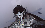 Military Pilot Portrait in flight