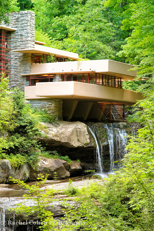 """""""Glance at Fallingwater""""<br /> <br /> A vertical image of Fallingwater during summer!"""