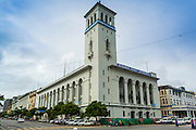 07 JUNE 2014 - YANGON, MYANMAR: The Myanmar Port Authority is considered one of Yangon's better preserved colonial buildings. It was built in 1920. Yangon has the highest concentration of colonial style buildings still standing in Asia. Efforts are being made to preserve the buildings but many are in poor condition and not salvageable.    PHOTO BY JACK KURTZ
