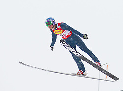 16.12.2011, Casino Arena, Seefeld, AUT, FIS Nordische Kombination, Ski Springen Team HS 109, im Bild Bill Demong (USA) // Bill Demong of United States during Ski jumping the team competition at FIS Nordic Combined World Cup in Sefeld, Austria on 20111211. EXPA Pictures © 2011, PhotoCredit: EXPA/ P.Rinderer