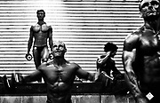 """BODYBUILDING<br /> I covered the Australian Bodybuilding Championships for a couple of years .Initially I was intrigued by these people who undertook extreme exercise,diet and weight regimes to sculpt their bodies way beyond that of the average human body. From day one my first thought , after a fleeting feeling of intimidation on being surrounded by these massive frames, was that these bodybuilders were extremely dedicated and driven athletes.<br /> <br /> Date..30th October 2005 <br /> Pixs taken during the """"2005 AUSTRALIAN BODYBUILDING CHAMPIONSHIPS """" at Revesby Workers Club , (3 Brett Street Revesby).which also incorporated BODYSHAPING, FITNESS and FIGURE..<br /> <br /> Images were taken down in the so called """"PIT"""" where competitors got ready , pumped themselves up and rubbed fake body tan on etc. There are also pixs of competitors in the small makeup rooms just off to the side of the stage where they check themselves out, practice their poses, and make final adjustments before going onto the stage to compete.Finally there are pixs of them on stage .The event was a PAUL and CAROL GRAHAM Production."""