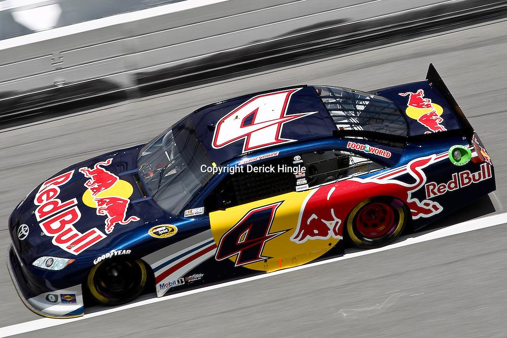 April 16, 2011; Talladega, AL, USA; NASCAR Sprint Cup Series driver Kasey Kahne (4) during qualifying for the Aarons 499 at Talladega Superspeedway.   Mandatory Credit: Derick E. Hingle