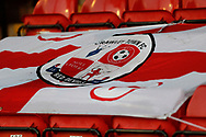 Crawley Town flag at the EFL Sky Bet League 2 match between Walsall and Crawley Town at the Banks's Stadium, Walsall, England on 18 January 2020.