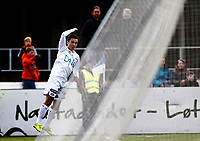 Fotball ,  NM- Cupen<br /> 13.04.16<br /> Løten kunstgress<br /> Løten  v Vålerenga  1-4<br /> Foto : Dagfinn Limoseth , Digitalsport<br />  Niklas Fernando Castro , Vålerenga feirer sin scoring