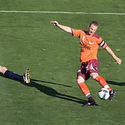 Craig Moore in action during the Central Coast Mariners V Brisbane Roar A-League match at Bluetongue Stadium, Gosford, Australia, 19 December 2009. Photo Tim Clayton