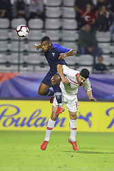 October 12, 2018 - Rouen, France - Kelvin Amian Adou (France Espoirs) vs Guven Yalcin  (Credit Image: © Panoramic via ZUMA Press)