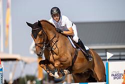Hendrix Michel, NED, Elco van hof ter Nailen<br /> Nederlands Kampioenschap Springen<br /> De Peelbergen - Kronenberg 2020<br /> © Hippo Foto - Dirk Caremans<br />  06/08/2020