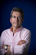 British journalist and campaigner george Monbiot, pictured at the Edinburgh International Book Festival where he talked about his latest book entitled 'Feral'. The three-week event is the world's biggest literary festival and is held during the annual Edinburgh Festival. The 2013 event featured talks and presentations by more than 500 authors from around the world and was the 30th edition of the festival.