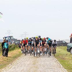 Philippine (NED) CYCLING OCTBER 17<br /> Omloop van de Braakman<br /> Op de kassien