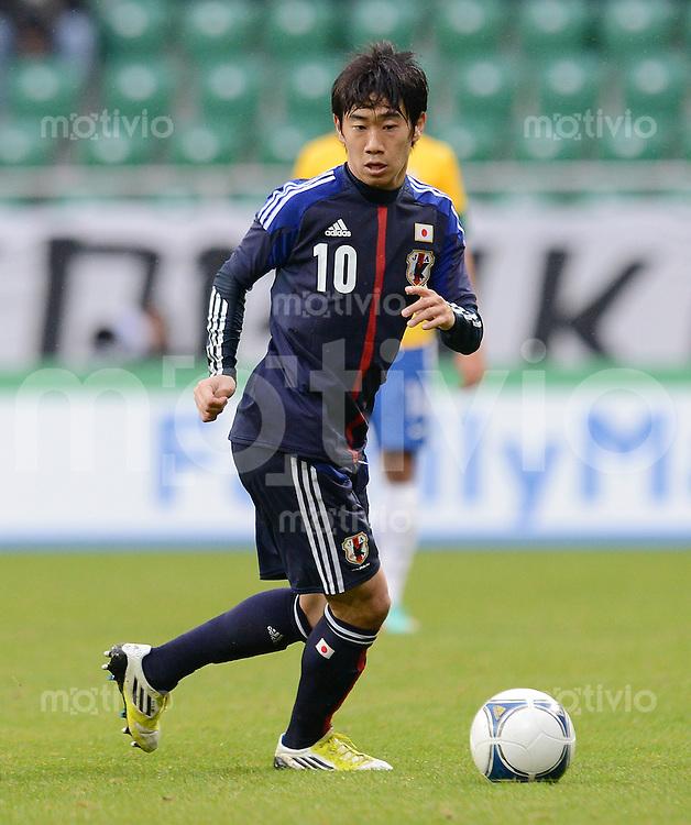 FUSSBALL   INTERNATIONAL   Testspiel    Japan - Brasilien          16.10.2012 Shinji KAGAWA (Japan) am Ball