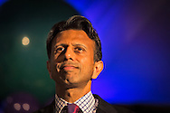 """July 9, 2015, New Orleans, LA Louisiana Gov. Bobby Jindal gives a keynote speech to a group of supporters at the National Right to Life Convention in the Marriot Hotel. """"If the Republican Party cannot make defending the defenseless into a winning issue, they should just close up shop,""""  Jindal told them. Gov. Bobby Jindal launched his bid for the White House on June 24th, declare his run to be the next president."""